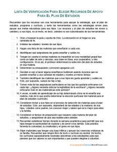 Lista de Verificacion para Elegir Recursos de Apoyo para el Plan de Estudios-2018-07-30